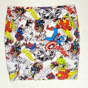 Marvel Brand comics mini skirt Size M